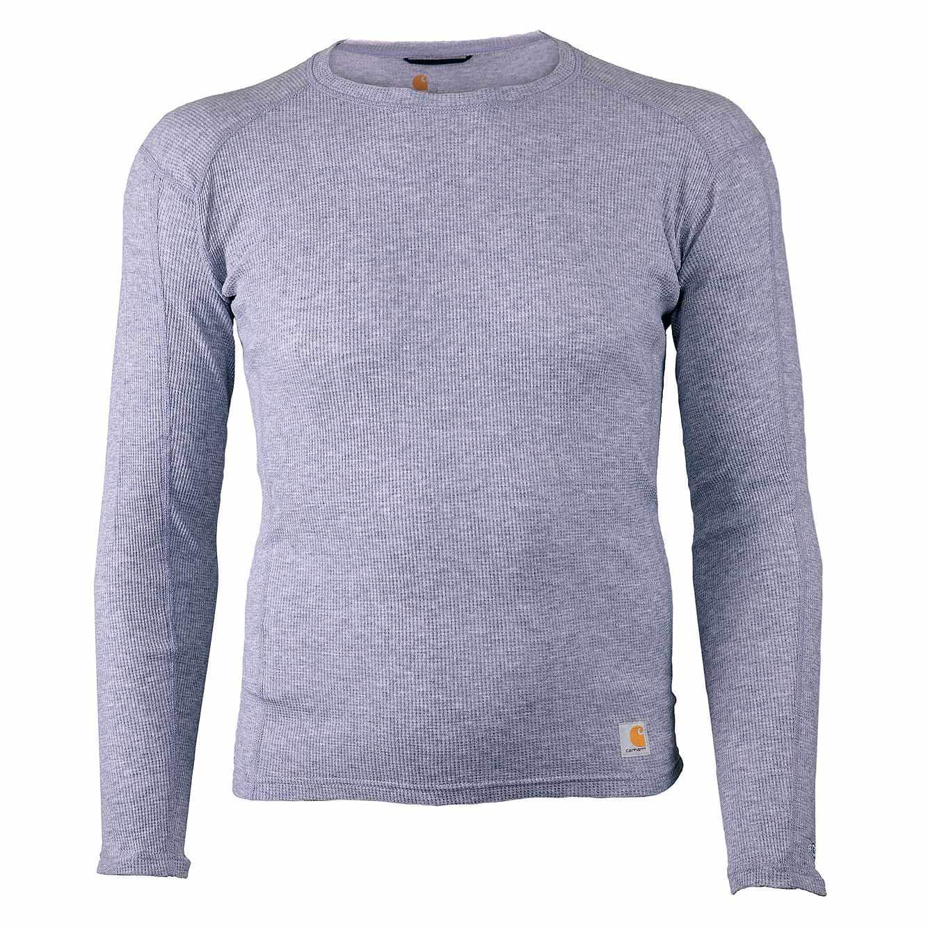 Picture of Base Force® 100% Cotton Midweight Crew in Heather Gray