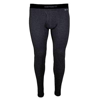 Carhartt Men's BLACK HEATHER Base Force® 100% Cotton Midweight Bottom