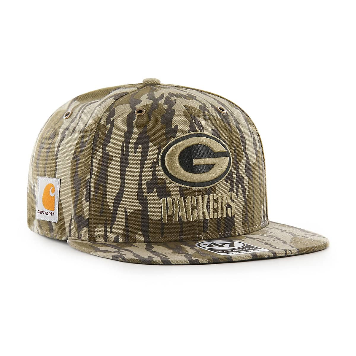 7d74c791e2b2d Unisex Green Bay Packers Mossy Oak x Carhartt x  47 CAPTAIN