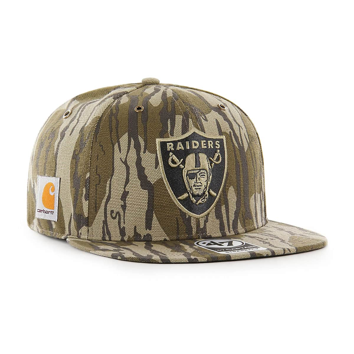 396d6f2feb292 Unisex Oakland Raiders Mossy Oak x Carhartt x  47 CAPTAIN