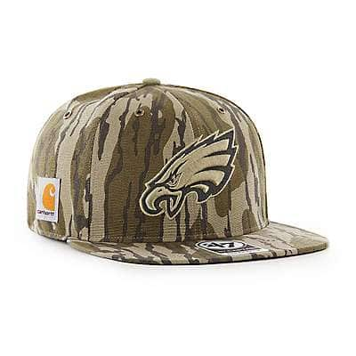 Carhartt Unisex Mossy Oak Break-Up Philadelphia Eagles Mossy Oak x Carhartt x '47 CAPTAIN - front