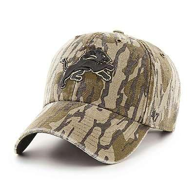 Carhartt Unisex Mossy Oak Break-Up Detroit Lions Mossy Oak x Carhartt x '47 CLEAN UP - front