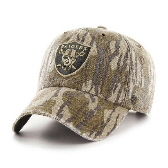 Carhartt Unisex MOB Oakland Raiders Mossy Oak x Carhartt x  47 CLEAN UP -  front ... b1ffe4be93f