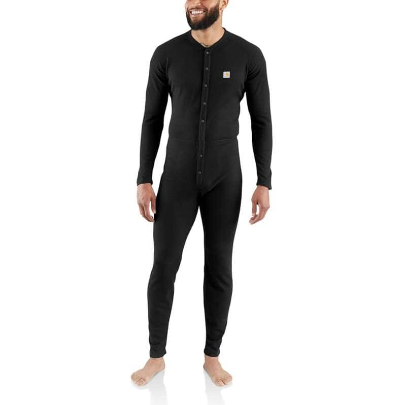 Carhartt  Black Classic Cotton-Poly Union Suit