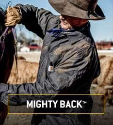 mighty back. stretch panel between your shoulders for instant recovery