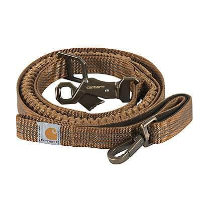Carhartt  Carhartt Brown/Dark Brown Shock Absorbing Control Leash - front