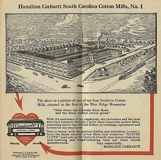 Carhartt Cotton Mill, Rock Hill, NC, circa 1921