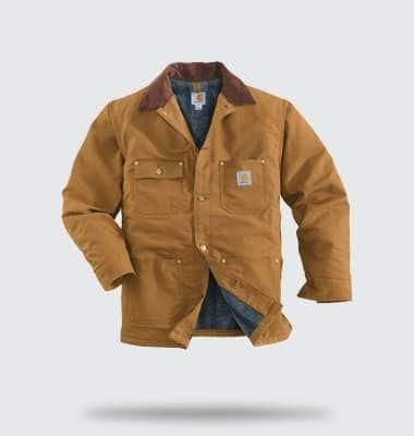 duck chore coat/blanket lined. shop now