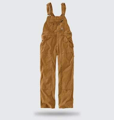crawford double front bib overall, shop now