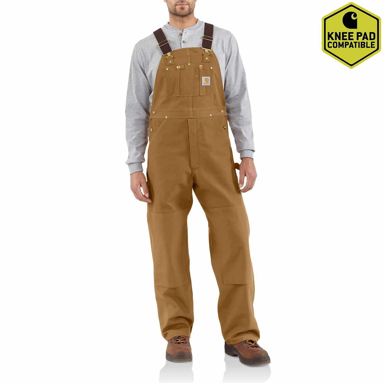 Picture of Duck Bib Overall/Unlined in Carhartt Brown