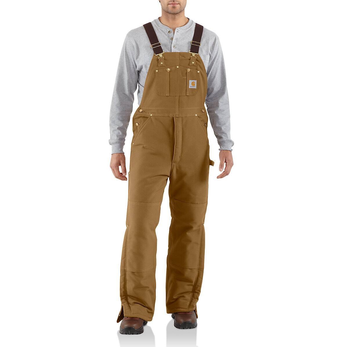 088a1d9a71a54 Men's Duck Bib Overall / Arctic Quilt Lined R03 | Carhartt