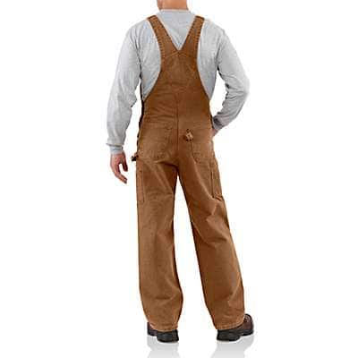 Carhartt  Dark Brown Sandstone Bib Overall/Unlined - back