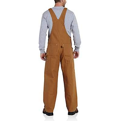 Carhartt  Carhartt Brown Duck Carpenter Bib Overall/Unlined - back