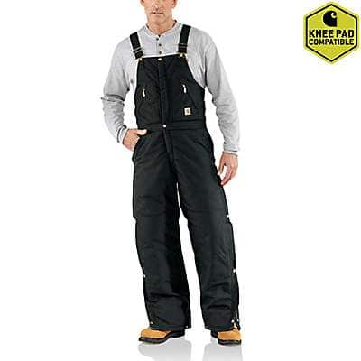 Carhartt  Black Yukon Extremes® Zip-To-Waist Biberall / Arctic Quilt Lined - front