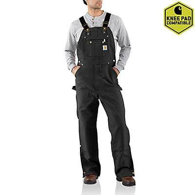 Carhartt Men's Carhartt Brown Duck Zip-To-Thigh Bib Overall/Unlined - front