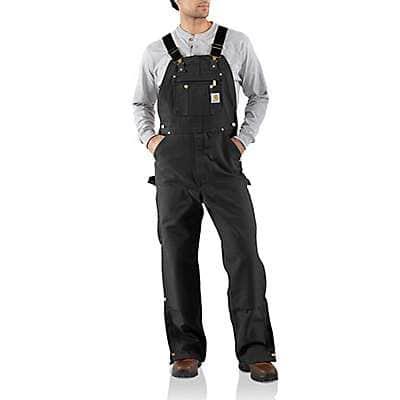 Carhartt Men's Black Loose Fit Firm Duck Bib Overall