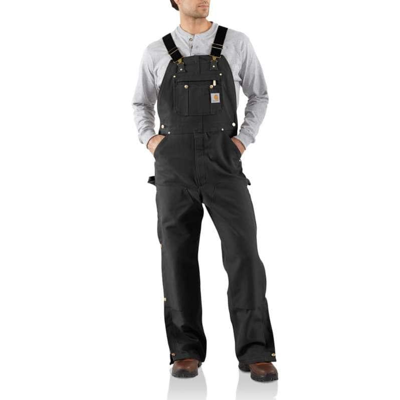 Carhartt  Black Loose Fit Firm Duck Bib Overall
