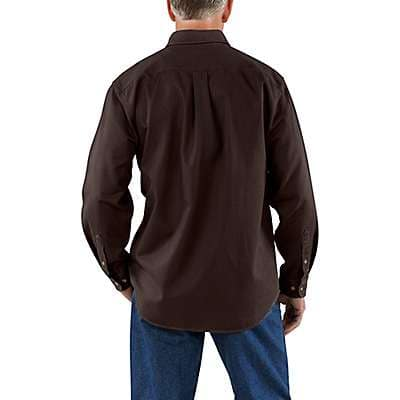 Carhartt Men's Dark Brown Sandstone Twill Shirt - back