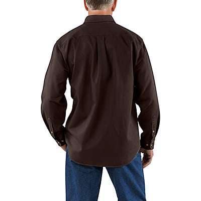 Carhartt Men's Dark Brown Sandstone Twill Shirt - back