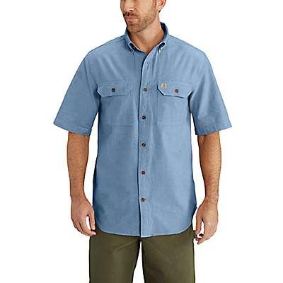 Carhartt  Blue Chambray Fort Short Sleeve Chambray Shirt - front
