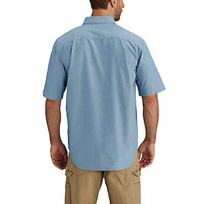 Carhartt Men's Blue Chambray Fort Short Sleeve Chambray Shirt - back