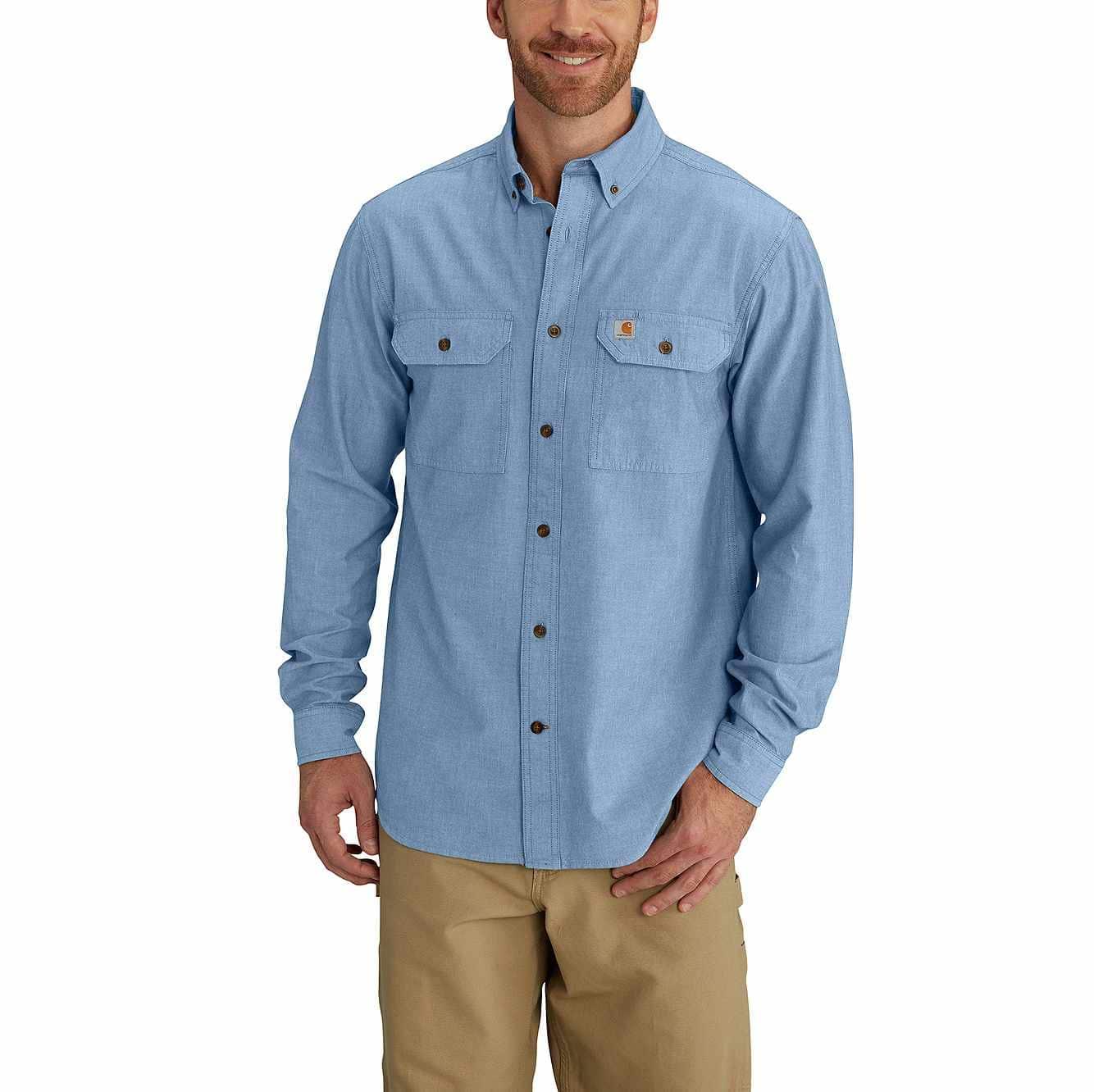46cb87f88be Men s Fort Long Sleeve Chambray Shirt S202