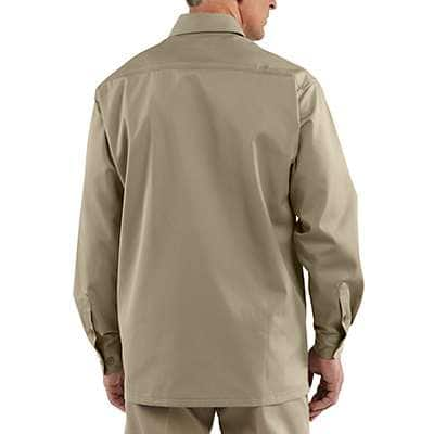 Carhartt Men's Khaki Long-Sleeve Twill Work Shirt - back