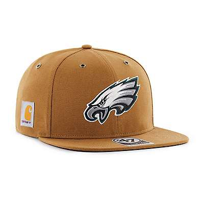 Carhartt Men's Carhartt Brown Philadelphia Eagles Carhartt X '47 Captain - front
