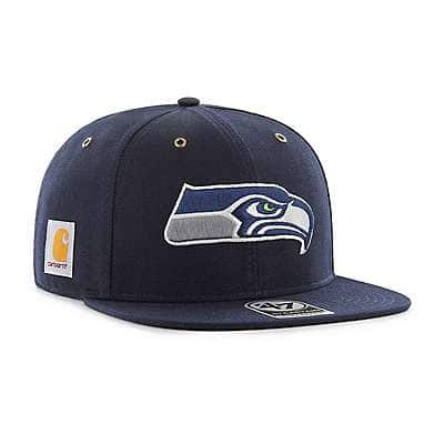 Carhartt Men's Navy Seattle Seahawks Carhartt X '47 Captain - front