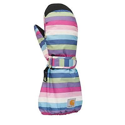 Carhartt Girls' Multi Stripe Toddler Stripe Mitten - front