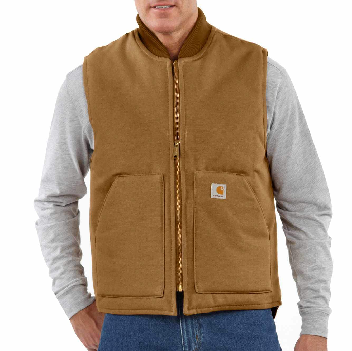 Picture of Duck Vest / Arctic-Quilt Lined in Carhartt Brown