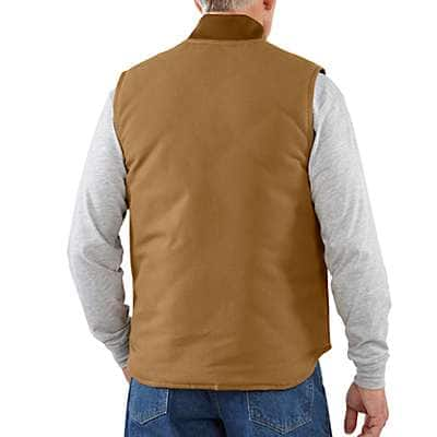 Carhartt Men's Carhartt Brown Duck Vest / Arctic-Quilt Lined - back