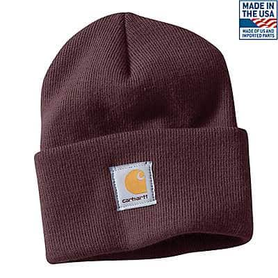 Carhartt Women's Deep Wine Acrylic Watch Hat - front
