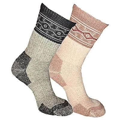 Carhartt Women's Pink Wool Blend Crew Sock, 4 Pack - front