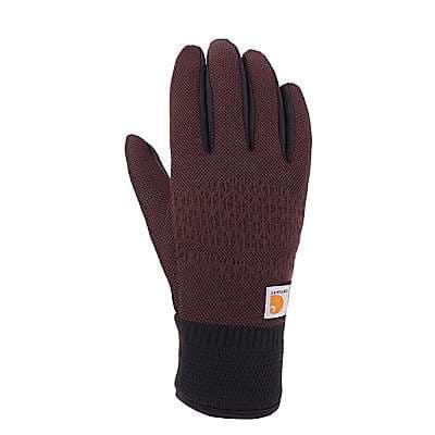 Carhartt Women's Deep Wine Roboknit Insulated Glove - front