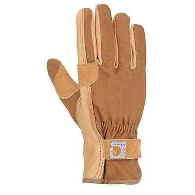 Carhartt Women's Brown Chore Master Work Glove - front