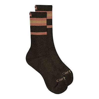 Carhartt Women's Green Heavy Duty Thermal Crew Sock 2 Pack - front