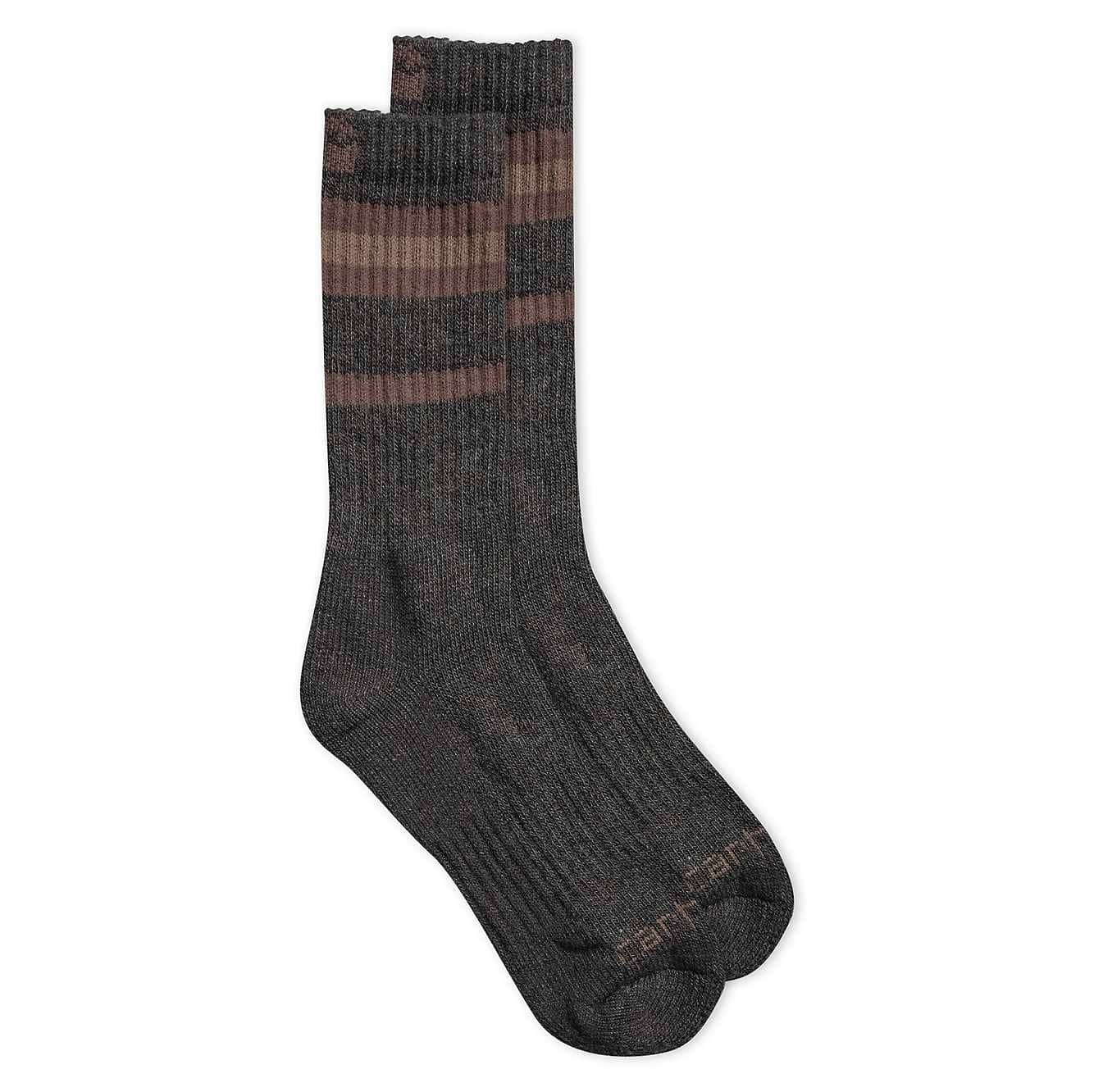 Picture of Heavy Duty Thermal Crew Sock 2 Pack in Gray