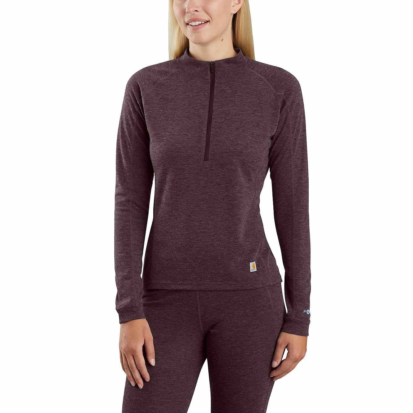 Picture of Base Force® Heavyweight Poly-Wool Quarter-Zip in Deep Wine