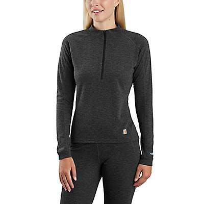 Carhartt Women's BLACK HEATHER Base Force® Heavyweight Poly-Wool Quarter-Zip