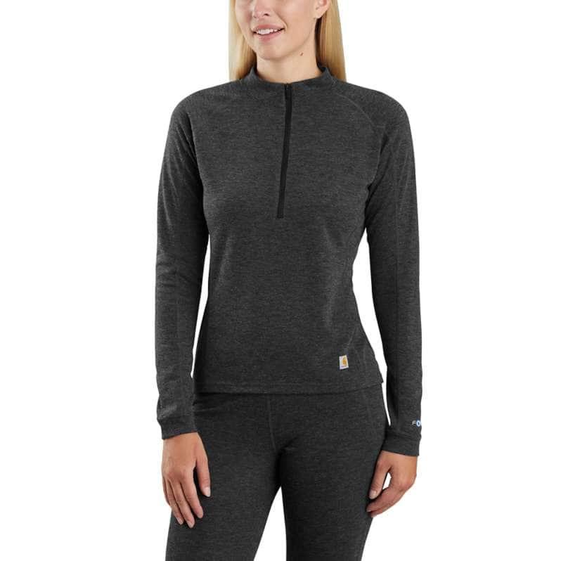 Carhartt  BLACK HEATHER Base Force® Heavyweight Poly-Wool Quarter-Zip