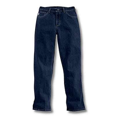 Carhartt Women's Denim Flame-Resistant Relaxed Fit Denim Jean - front