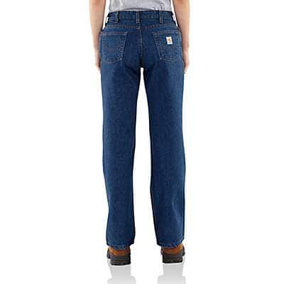 Carhartt Women's Denim Flame-Resistant Relaxed Fit Denim Jean - back