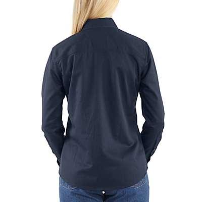 Carhartt Women's Khaki Flame-Resistant Twill Shirt - back