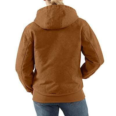Carhartt Women's Sea Glass Sandstone Quilted-Flannel Active Jac - back