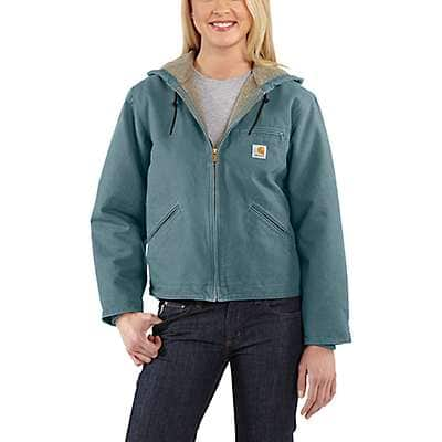 Carhartt  Sea Glass Sandstone Sherpa-Lined Sierra Jacket - front