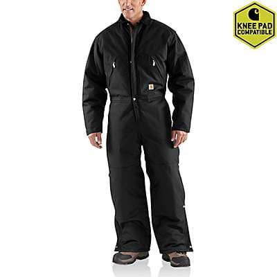 Carhartt Men's Black Yukon Extremes® Coverall / Arctic Quilt-Lined - front