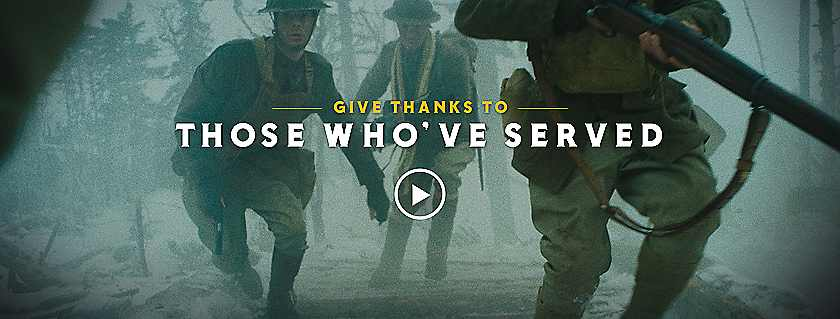 Give Thanks To Those Who've Served