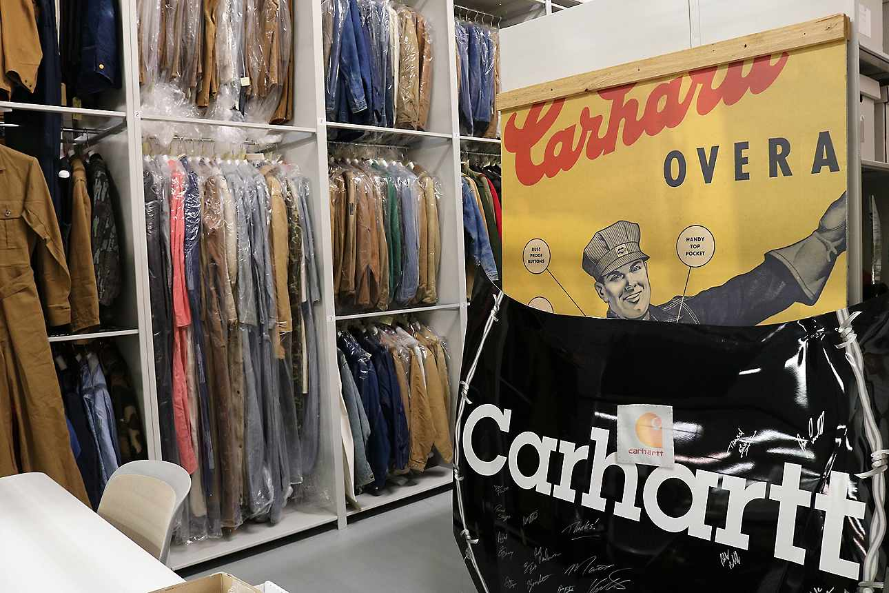 Carhartt Archive storage, 2019