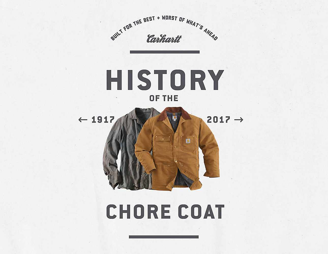 2017 Chore Coat ad featuring archival product from circa 1917